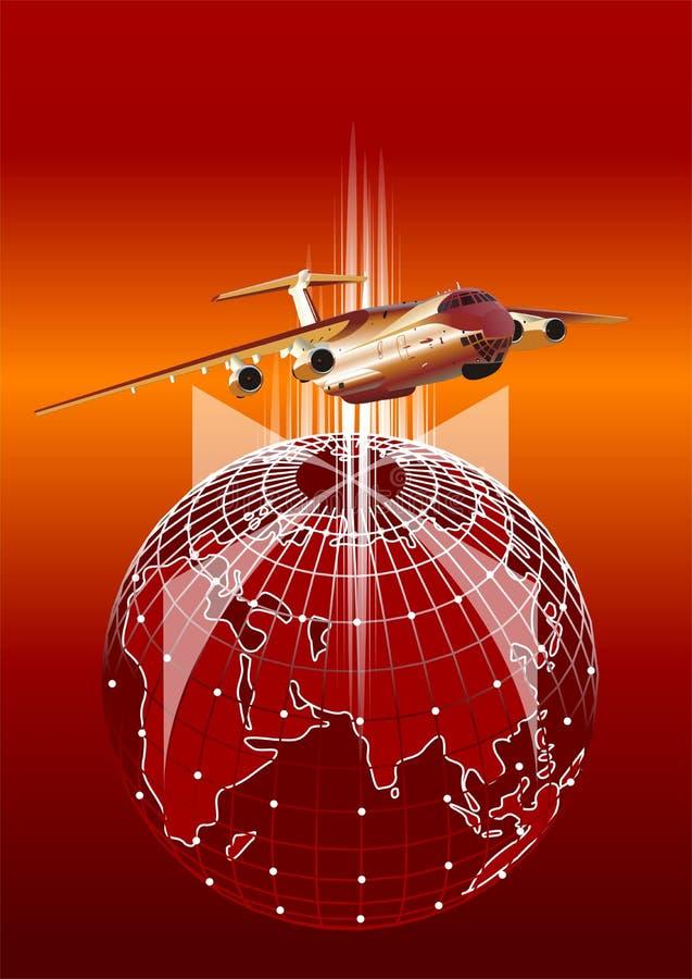 Aeroplano del cargo del vector ilustración del vector