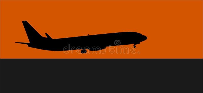 Aeroplano del despegue stock de ilustración
