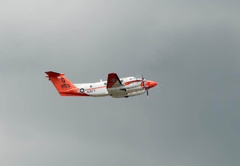 Aeroplano del entrenamiento de la marina de los E.E.U.U. fotografía de archivo libre de regalías