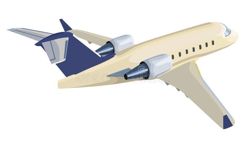 Aeroplano del getto di Yelow illustrazione di stock