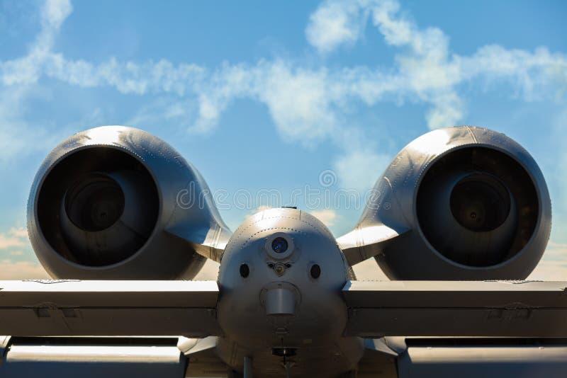 Aeroplano del jet del rayo A-10 fotos de archivo libres de regalías