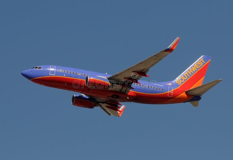 Aeroplano del jet del Southwest Airlines fotografia stock