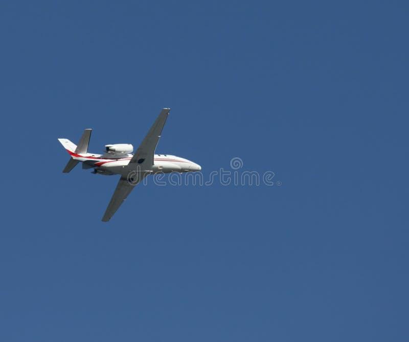 Aeroplano del jet di lettera fotografia stock