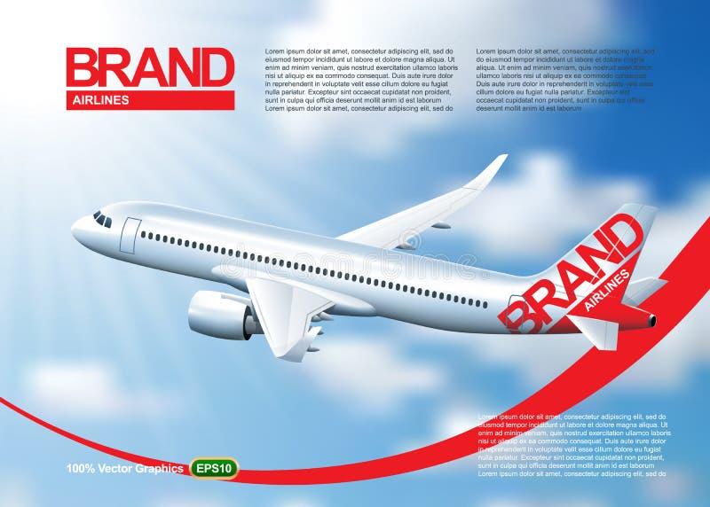 aeroplano del pasajero en vuelo ilustración del vector