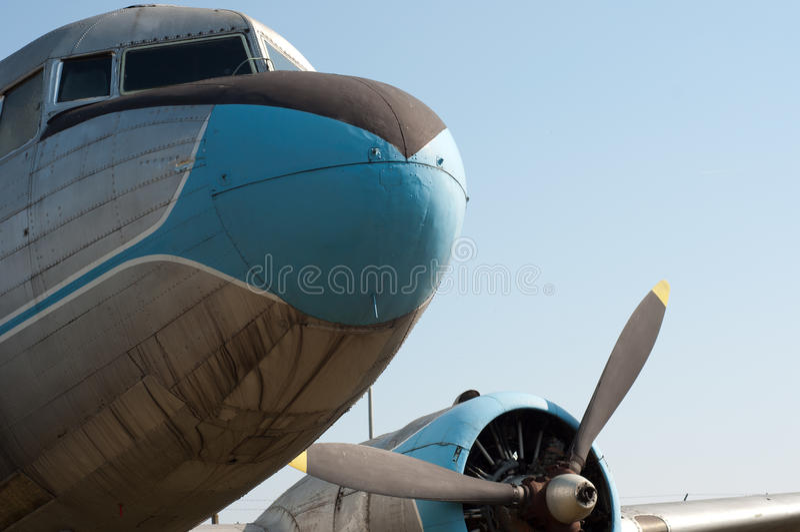 aeroplano del propulsor de la vendimia fotos de archivo