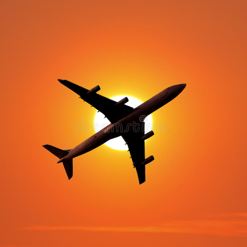Aeroplano del transporte aéreo imágenes de archivo libres de regalías