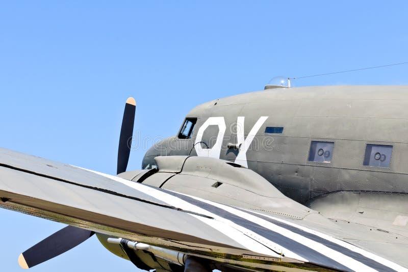 Aeroplano del transporte de la guerra mundial 2 imagen de archivo libre de regalías