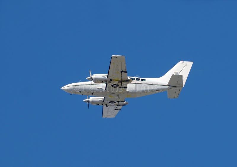 Aeroplano del turbopropulsore fotografie stock
