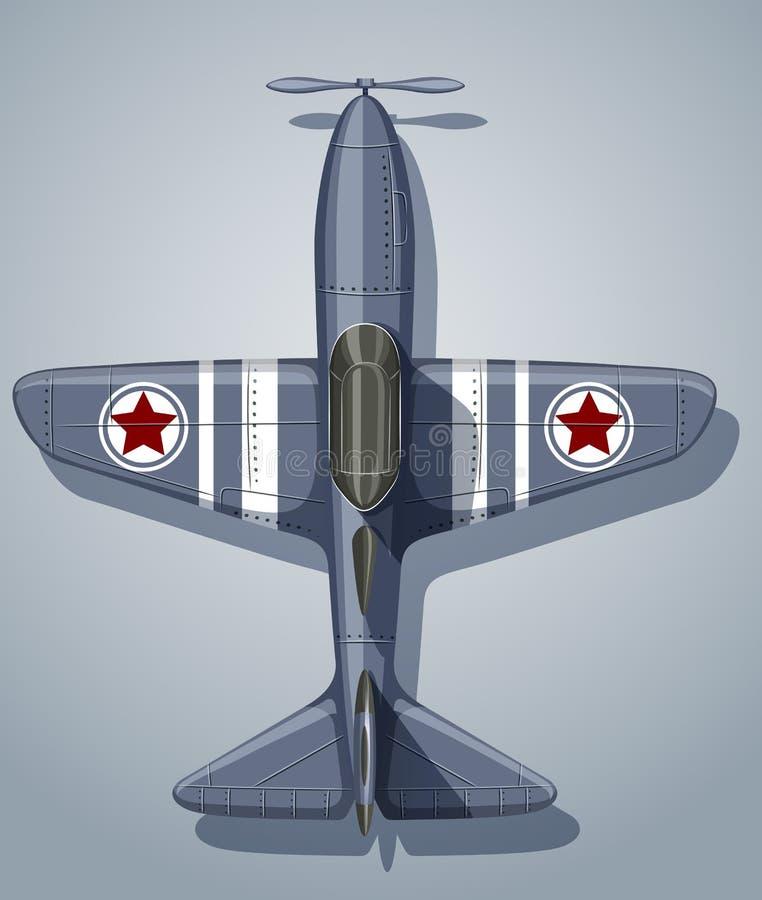 Aeroplano del vintage usado en ejército libre illustration