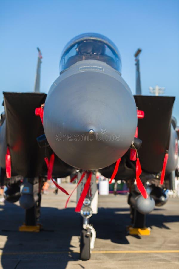 Aeroplano dell'aereo da caccia di F-15 Eagle fotografia stock libera da diritti