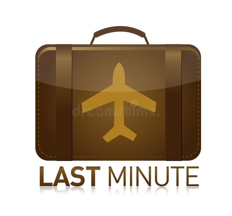 Aeroplano dell'ultimo minuto dei bagagli royalty illustrazione gratis