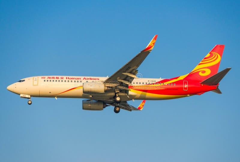 Aeroplano della Cina Hainan Airlines fotografia stock