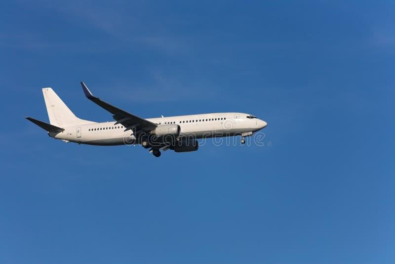 Aeroplano di atterraggio fotografia stock libera da diritti