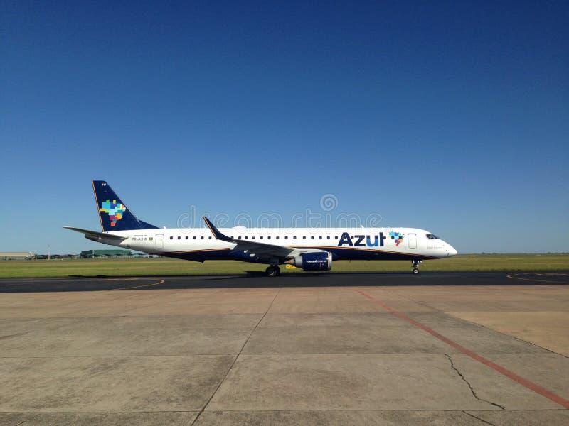 Aeroplano di Azul Airlines fotografie stock libere da diritti