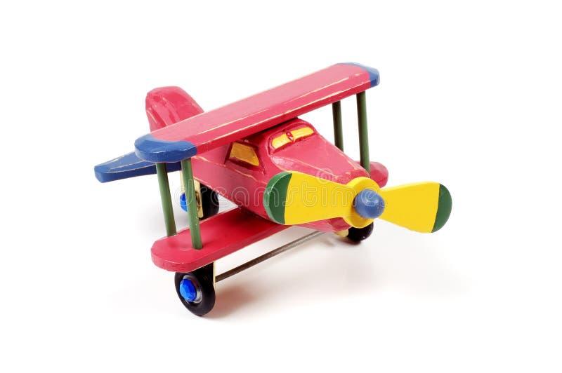 Aeroplano di legno immagine stock