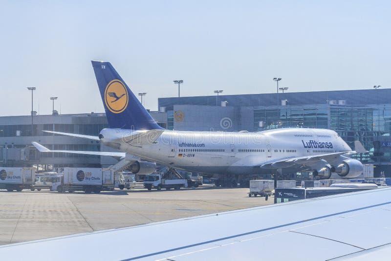 Aeroplano di Lufthansa fotografie stock