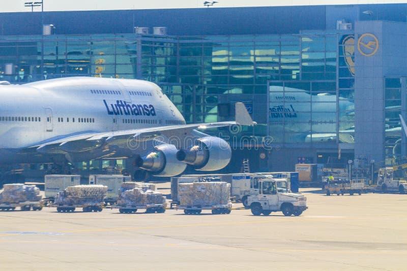 Aeroplano di Lufthansa fotografie stock libere da diritti