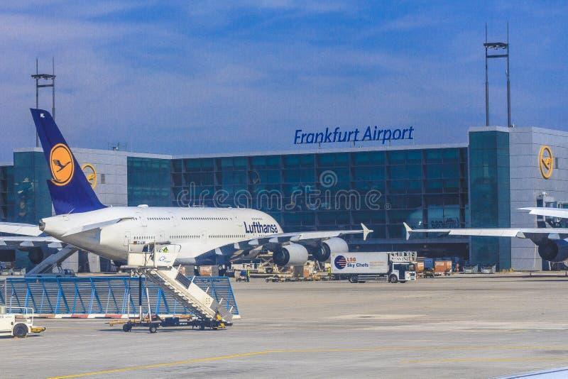 Aeroplano di Lufthansa immagine stock
