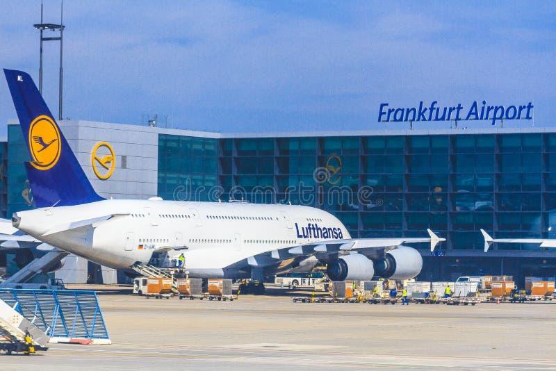 Aeroplano di Lufthansa immagini stock libere da diritti