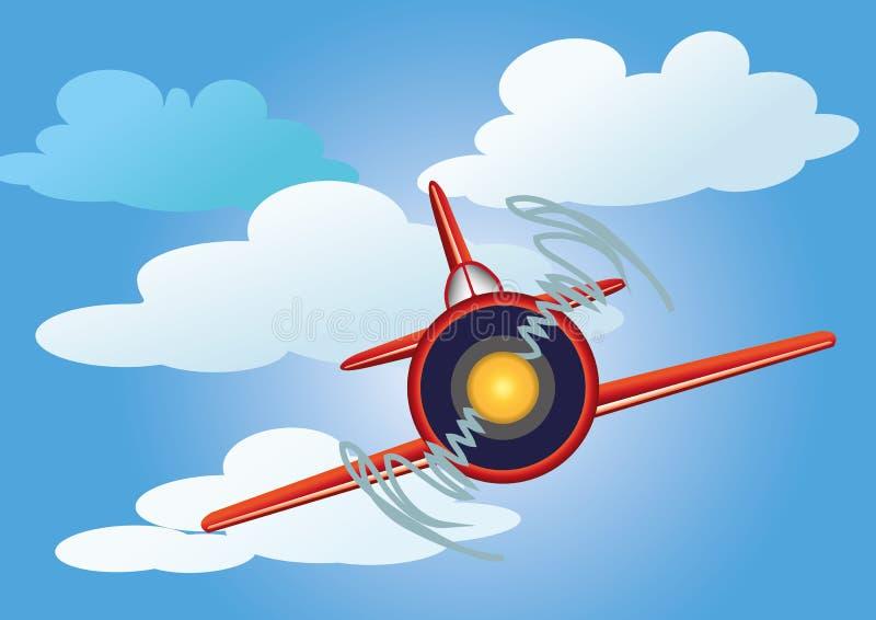 Aeroplano en el cielo stock de ilustración