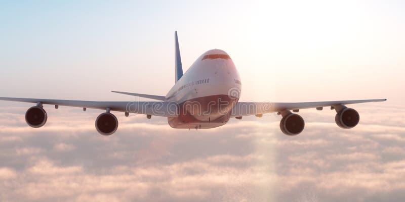 Aeroplano en el cielo libre illustration