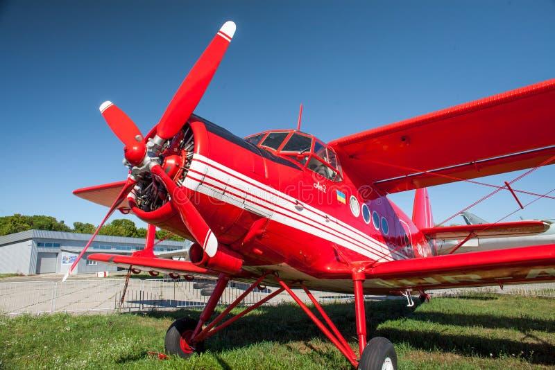 Aeroplano AN-2 en el museo de la aviación del estado imagen de archivo libre de regalías
