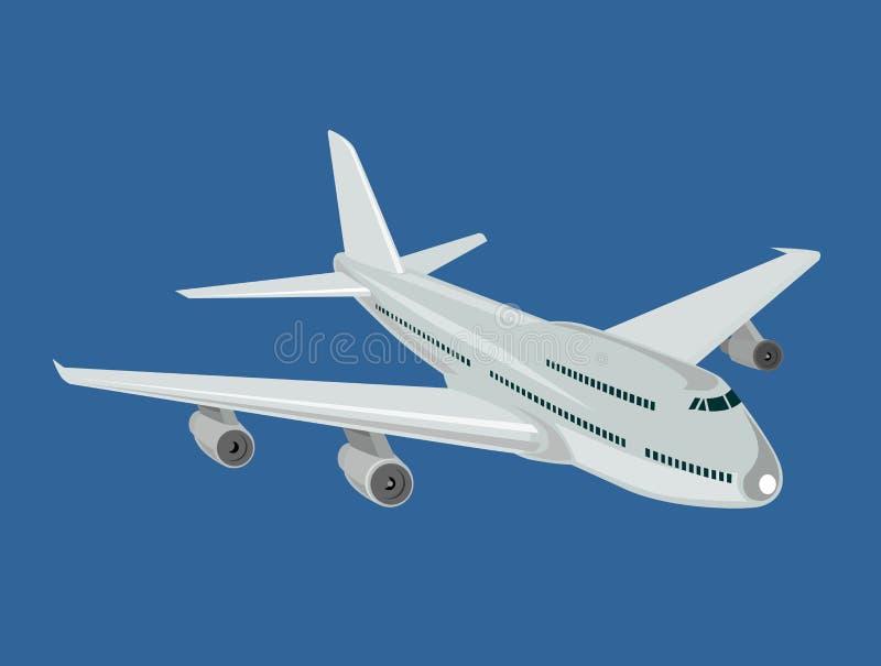 Aeroplano en vuelo completo libre illustration
