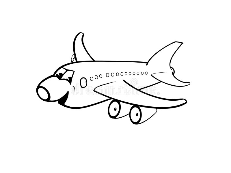 Aeroplano feliz stock de ilustración