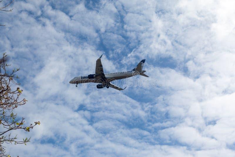 Aeroplano Fernando Noronha Brazil di viaggio immagini stock libere da diritti