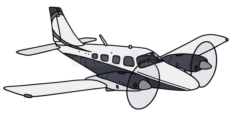 Aeroplano gemellato del motore illustrazione di stock