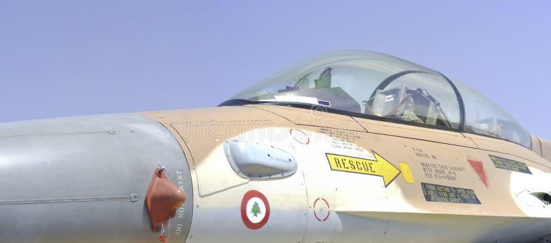Aeroplano israelí del combatiente F-16 (halcón) fotografía de archivo