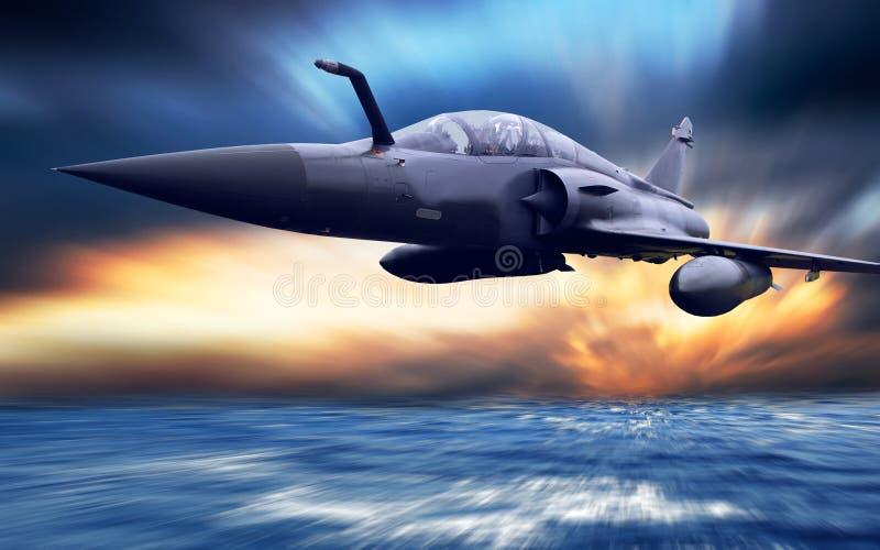 Aeroplano militar fotos de archivo