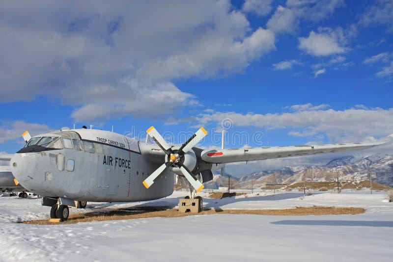 Aeroplano militare d'annata fotografia stock libera da diritti