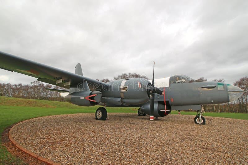 Aeroplano militare d'annata fotografia stock