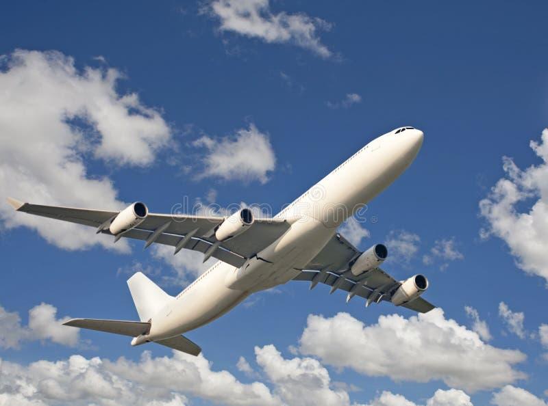 Aeroplano nel cielo, viaggio fotografia stock libera da diritti