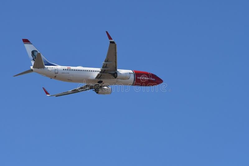 Aeroplano norvegese immagini stock