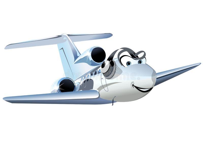 Aeroplano pratico civile del fumetto di vettore royalty illustrazione gratis