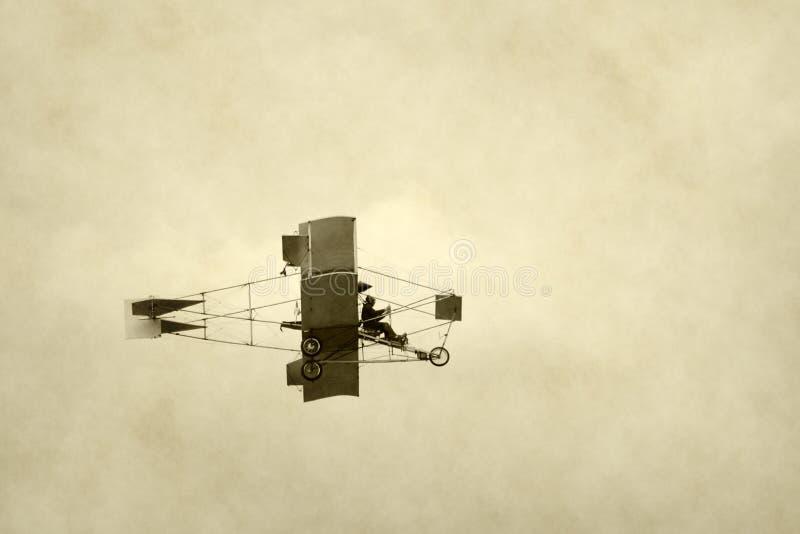 Aeroplano primitivo fotografía de archivo
