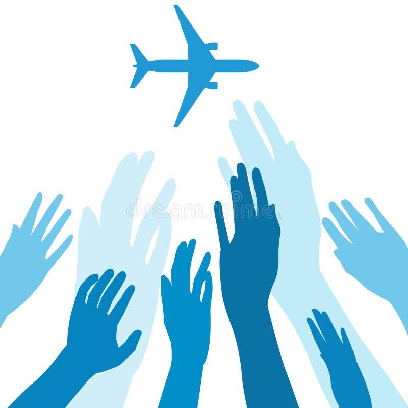 Aeroplano que falta stock de ilustración