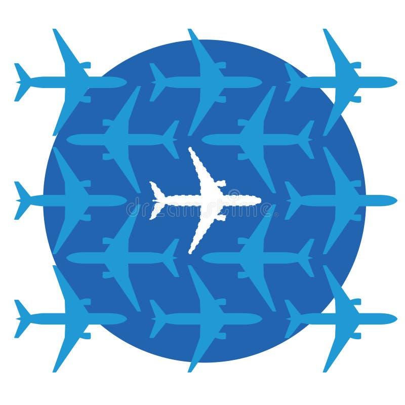 Aeroplano que falta ilustración del vector