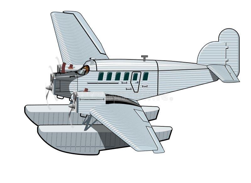 Aeroplano retro de la historieta libre illustration