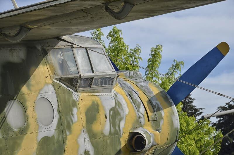 Aeroplano ruso militar de Antonov An-2 fotos de archivo