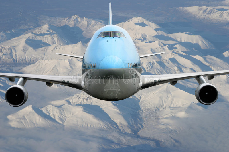 Aeroplano sobre Alaska imagen de archivo libre de regalías