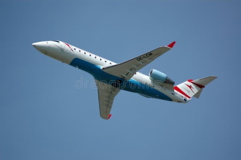 Aeroplano, spazio aereo del bombardiere, 2007, Vienna immagine stock libera da diritti