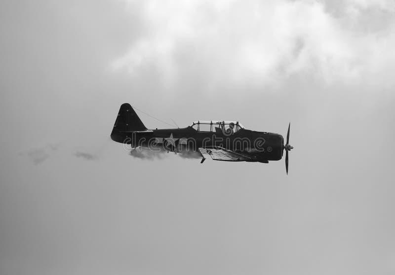 Aeroplano storico dalla seconda guerra mondiale immagini stock libere da diritti