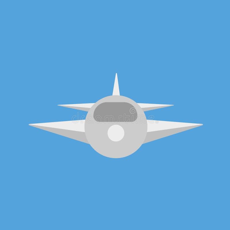Aeroplano su priorità bassa blu illustrazione di stock