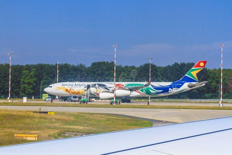 Aeroplano sudafricano di linee aeree immagini stock