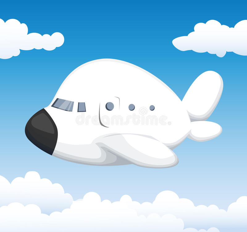 Aeroplano sveglio del fumetto royalty illustrazione gratis