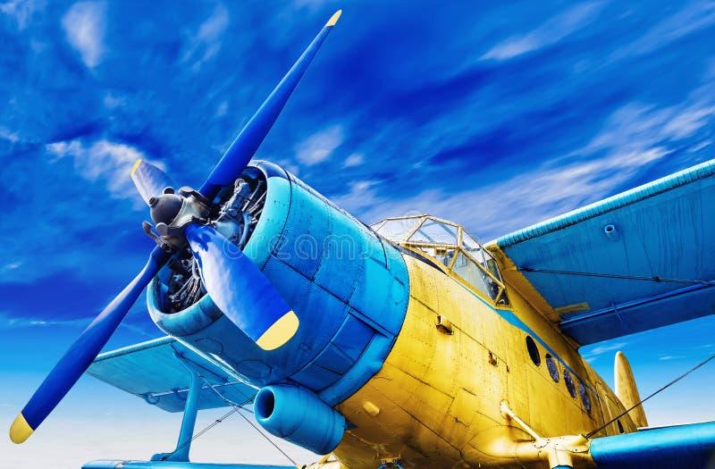 Aeroplano viejo foto de archivo