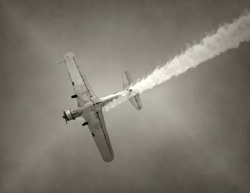 Aeroplano viejo del combatiente imágenes de archivo libres de regalías